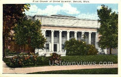 First Church of Christ Scientist - Detroit, Michigan MI Postcard