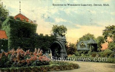 Woodmere Cemetery - Detroit, Michigan MI Postcard