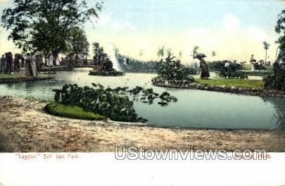 Lagoon, Belle Isle Park - Detroit, Michigan MI Postcard