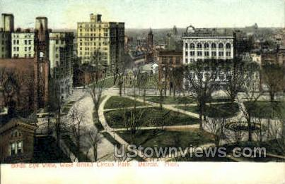 West Grand Circus Park - Detroit, Michigan MI Postcard