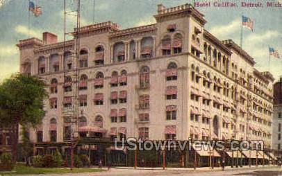 Hotel Cadillac - Detroit, Michigan MI Postcard