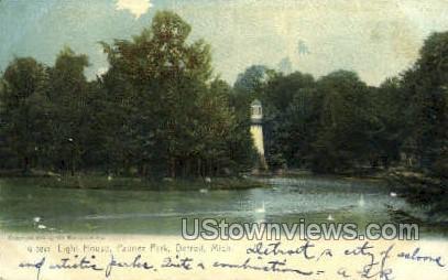 Light House, Palmer Park - Detroit, Michigan MI Postcard