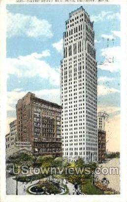 David Stott Bldg - Detroit, Michigan MI Postcard