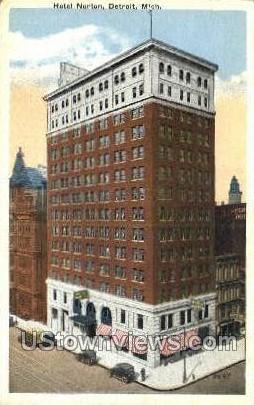Hotel Norton - Detroit, Michigan MI Postcard