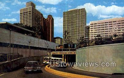 Tunnel to Canada - Detroit, Michigan MI Postcard