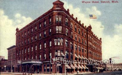Wayne Hotel - Detroit, Michigan MI Postcard