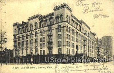 Cadillac Hotel - Detroit, Michigan MI Postcard
