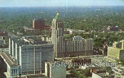 Uptown Shopping Center - Detroit, Michigan MI Postcard