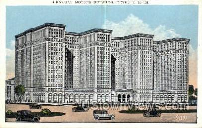 General Motors Bldg - Detroit, Michigan MI Postcard