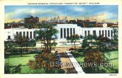 Rackham Memorial Educationa - Detroit, Michigan MI Postcard