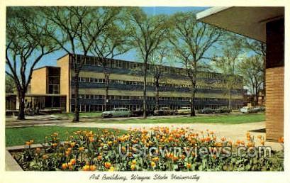 Art Bldg, Wayne State University - Detroit, Michigan MI Postcard