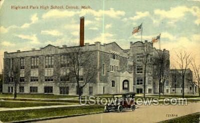 Highland Park High School - Detroit, Michigan MI Postcard