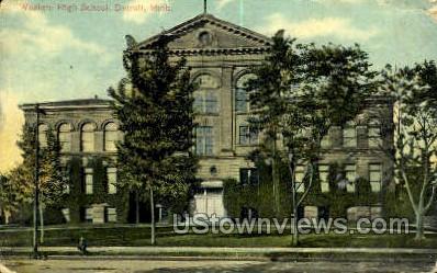 Western High School - Detroit, Michigan MI Postcard