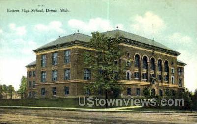 Eastern High School - Detroit, Michigan MI Postcard