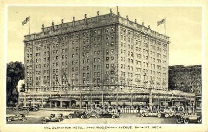 Detroiter Hotel - Michigan MI Postcard