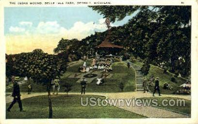 Cedar Mound, Belle Isle Park - Detroit, Michigan MI Postcard