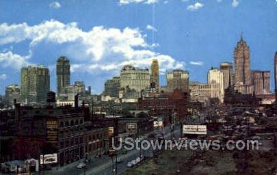 Detroit, Michigan, MI, Postcard