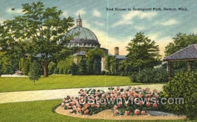Bird House in Zoological Park - Detroit, Michigan MI Postcard
