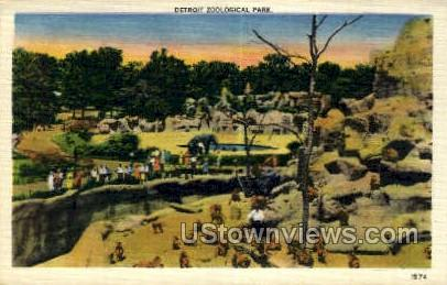 Detroit Zoological Park - Michigan MI Postcard
