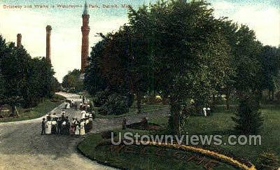 Waterworks Park - Detroit, Michigan MI Postcard