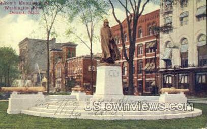 Macomb Monument - Detroit, Michigan MI Postcard