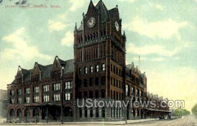Union Depot - Detroit, Michigan MI Postcard