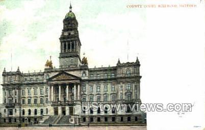 County Court Bldg - Detroit, Michigan MI Postcard