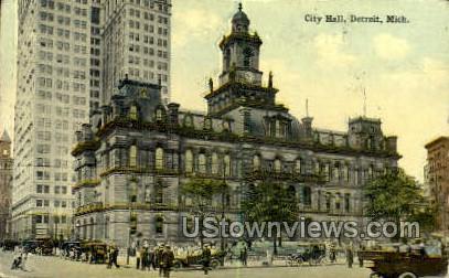 City Hall - Detroit, Michigan MI Postcard
