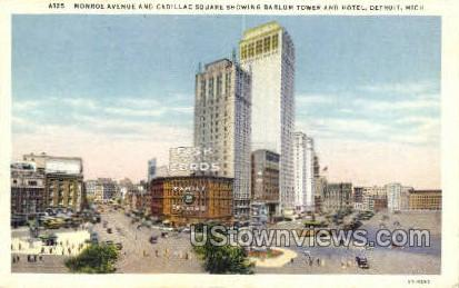 Monroe Ave. - Detroit, Michigan MI Postcard
