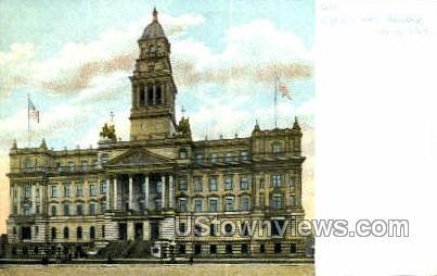 Wayne County Bldg - Detroit, Michigan MI Postcard