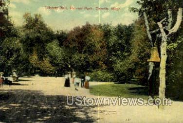 Liberty Bell, Palmer Park - Detroit, Michigan MI Postcard