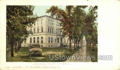 Law Bldg, University of Michigan - Detroit Postcard