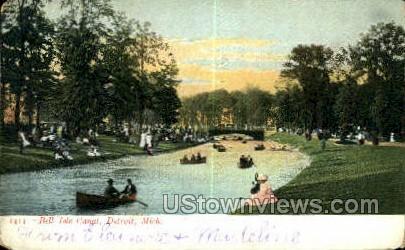 Belle Isle Canal - Detroit, Michigan MI Postcard