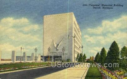 Veterans Memorial Bldg - Detroit, Michigan MI Postcard