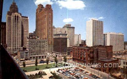 Waterfront - Detroit, Michigan MI Postcard
