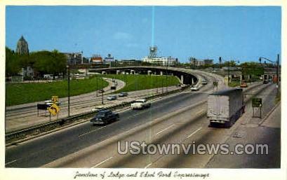 Edsel Ford Expressways - Detroit, Michigan MI Postcard
