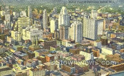Downtown - Detroit, Michigan MI Postcard