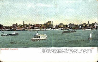 Detroit Harbor - Michigan MI Postcard