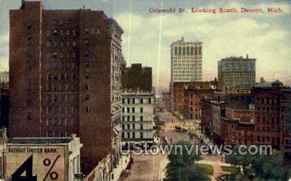Griswold St. - Detroit, Michigan MI Postcard