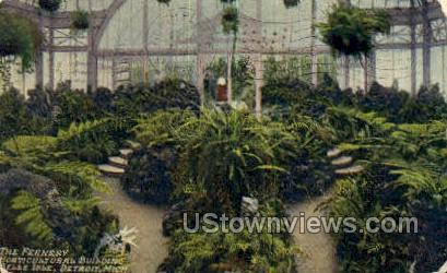 Horticultural Bldg, Belle Isle - Detroit, Michigan MI Postcard