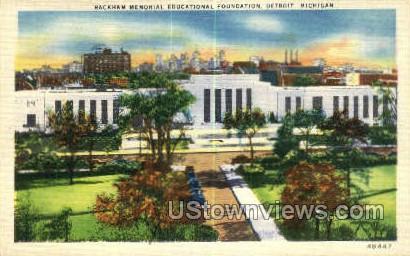Rackham Memorial Educational - Detroit, Michigan MI Postcard