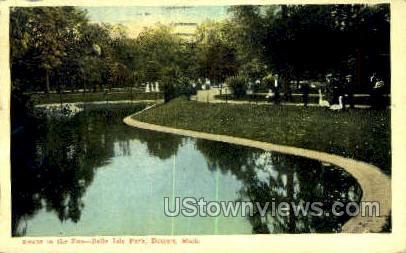 Zoo, Belle Isle Park - Detroit, Michigan MI Postcard