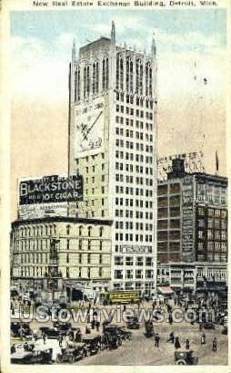 New Real Estate Exchange Bldg - Detroit, Michigan MI Postcard