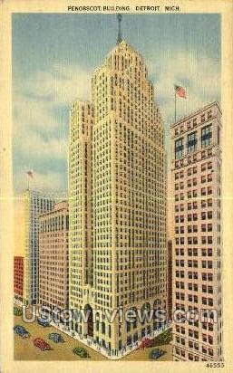 Penobscot Bldg - Detroit, Michigan MI Postcard