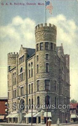 G.A.R. Bldg - Detroit, Michigan MI Postcard