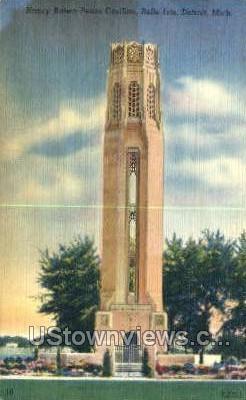 Nancy Brown Peace Carillon - Detroit, Michigan MI Postcard