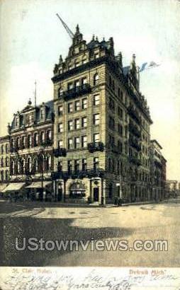 St. Clair Hotel - Detroit, Michigan MI Postcard