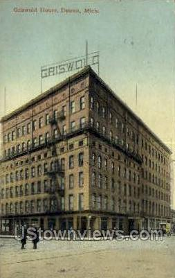 Griswold House - Detroit, Michigan MI Postcard