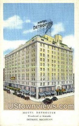 Hotel Detroiter - Michigan MI Postcard