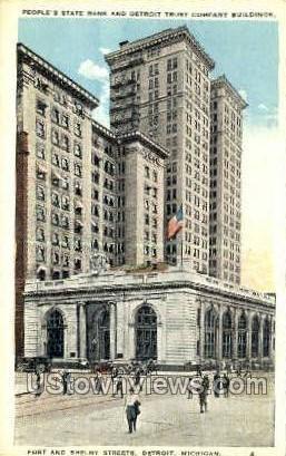 People's State Bank - Detroit, Michigan MI Postcard